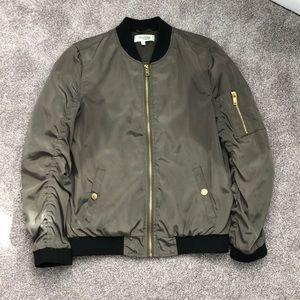 Army Green Bomber Jacket